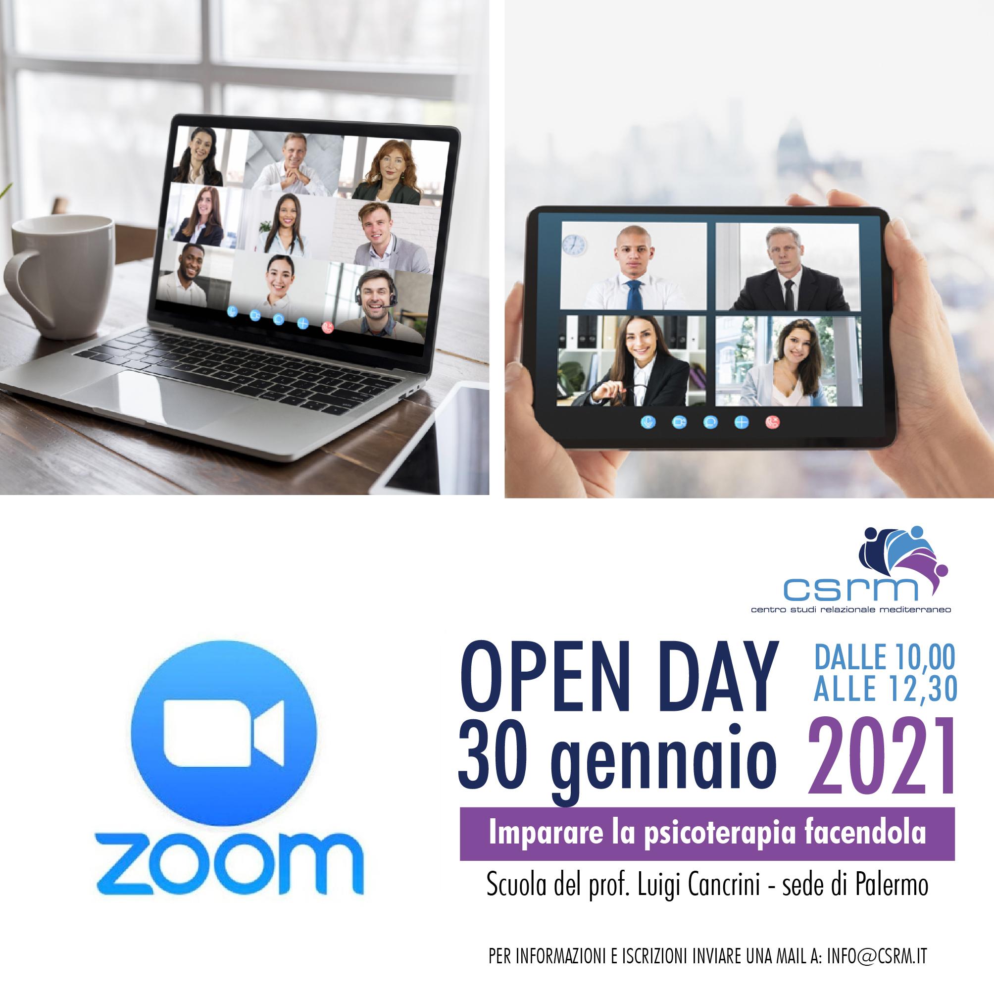Aperte iscrizioni Open day 30 gennaio 2021